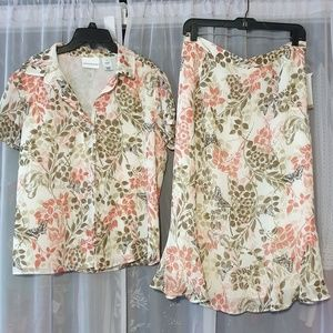Alfred Dunner set blouse and skirt size 12 New